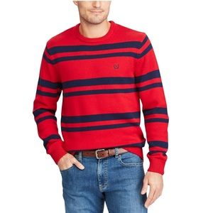 Chaps red striped sweater